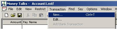 New Transaction Command