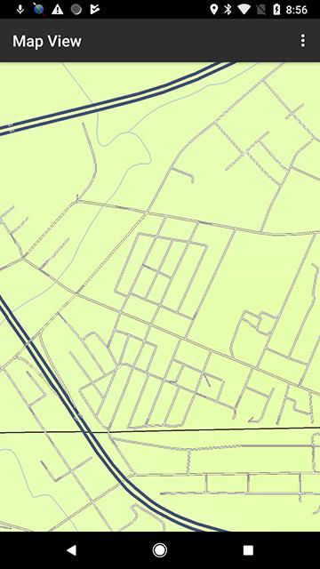 screenshot of a street map on NE