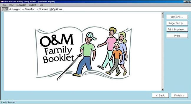 O&M Family Booklet Booklet