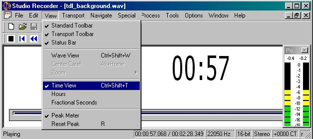 Image of Studio Recorder Time View