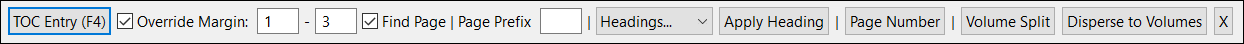 toc toolbar