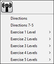 exercise material styles menu